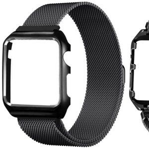 Stainless Steel Loop Mesh Band Frame Apple Watch